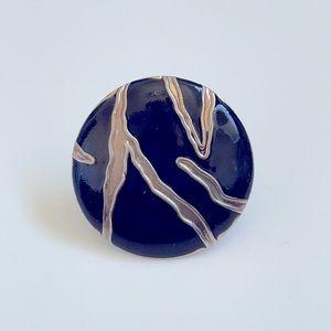 Vintage Zebra Gold Ring